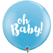 3ft Giant Balloons - Oh Baby! Blue 3ft Balloons 1pc